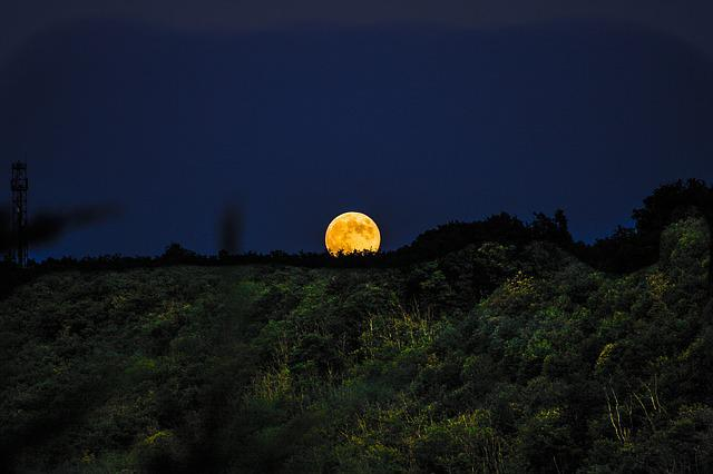 The Dome Of The Sky, Outdoor, Nature, Moon, Panoramic