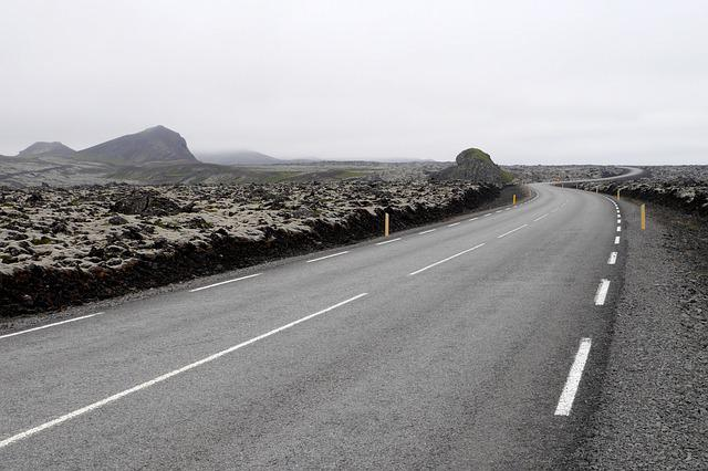 Path, Nature, Country, The Lava Fields, The Fog