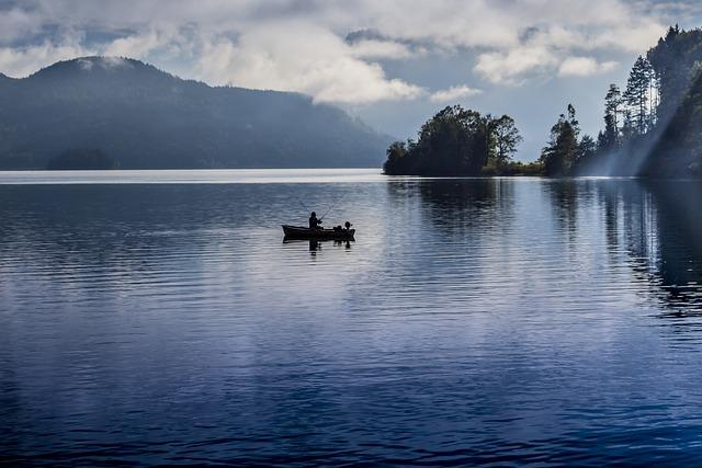 Lake, Fishing, Boat, Reflection, Nature, Sky, Travel