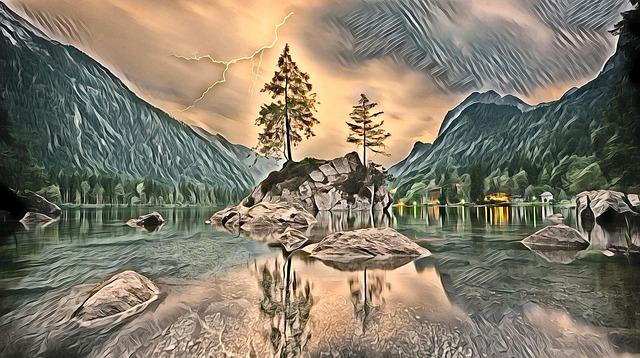 Nature, Water, Travel, Panoramic, Sky
