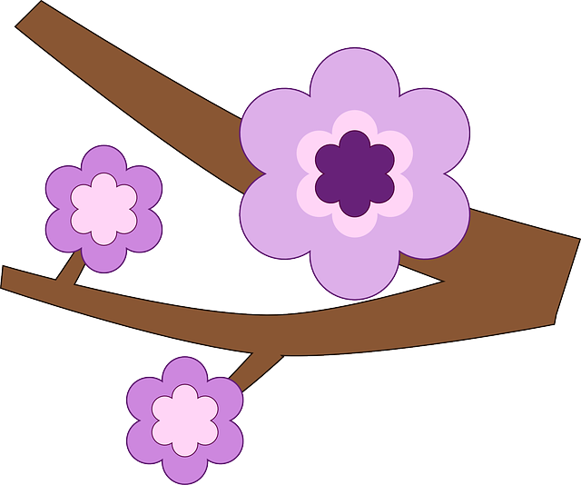 Branch, Flower, Nature, Purple, Spring, Tree, Twig