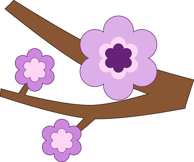 Branch, Flower, Nature, Purple, Spring, Tree, Twig