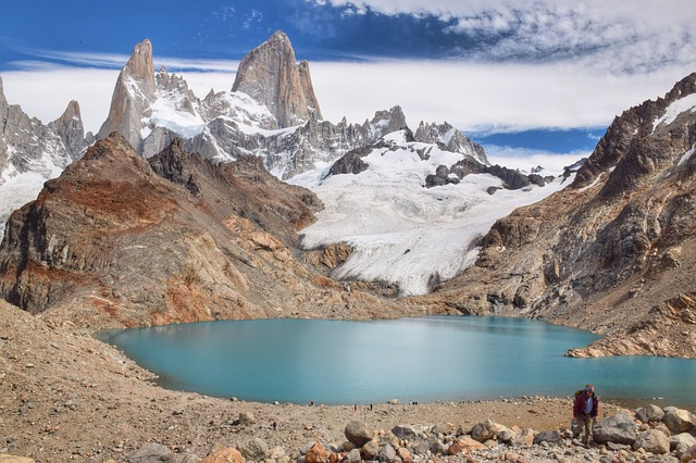 Mountain, Landscape, Water, Nature, Travel, Patagonia