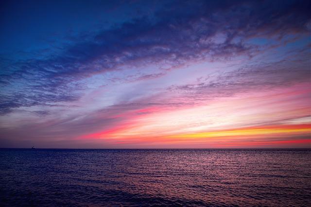 Sea, Sunrise, Sky, Nature, Landscape, Water, Reflection