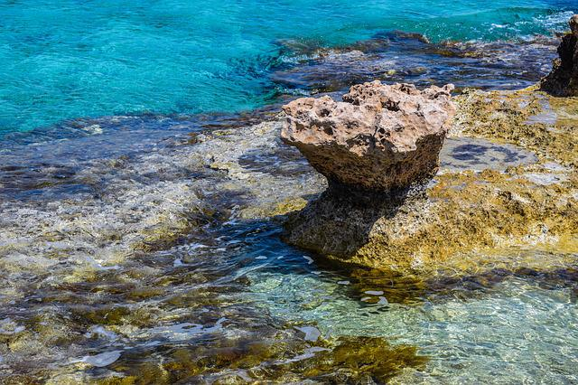 Rock, Sea, Transparent, Turquoise, Beach, Nature, Water