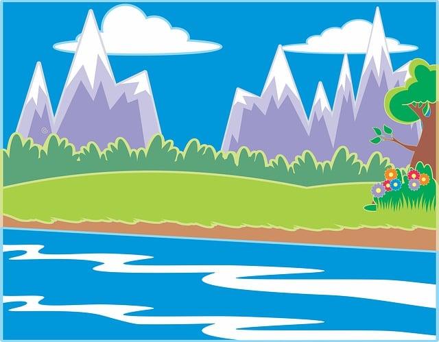 Nature, Tree, Water, Grass, Sun, Meadow, River, Wetland
