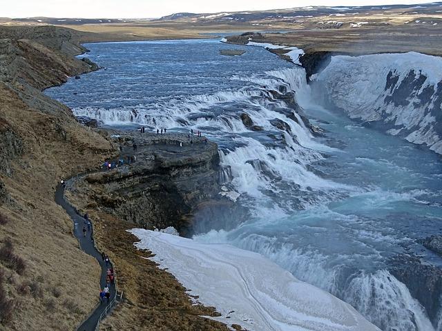 Gullfoss, Iceland, Water, Waterfall, Landscape, Nature