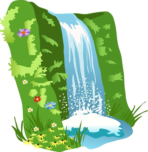 Waterfall, Water, Nature, Landscape, Cascade, Flowing