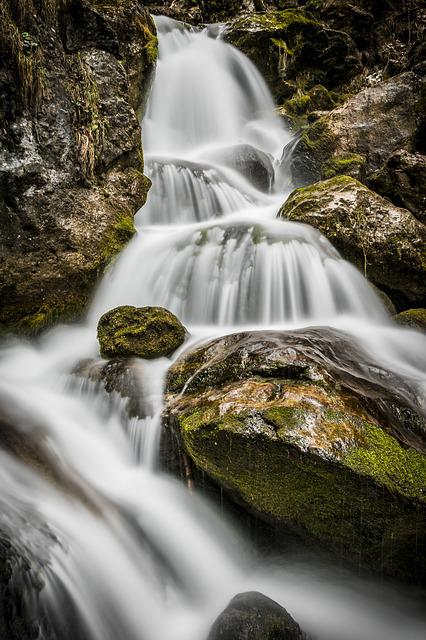 Water, Bach, River, Waterfall, Nature, Flow, Landscape
