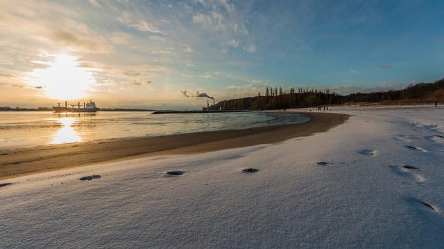 Waters, Beach, Sand, Nature, Sunset, Hamburg, Elbe