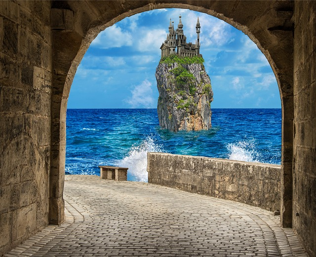 Architecture, Travel, Sea, Arch, Waters, Stone, Nature