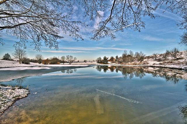 Time Of Year, Winter, Landscape, Nature, Winter Lake