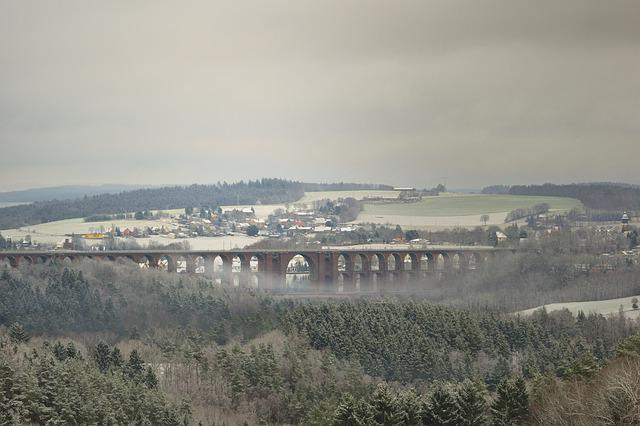Nature, Winter, Snow, Wintry, Viaduct