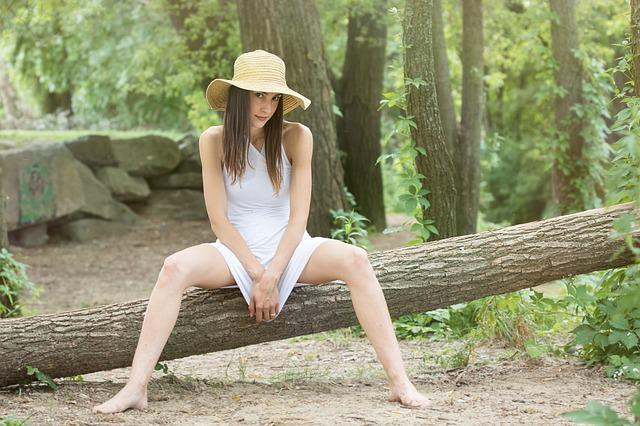 Nature, Summer, Wood, Outdoors, Girl, Woman, Ease, Tree