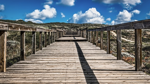 Sky, Nature, Wood, Travel, Architecture, Wooden, Bridge