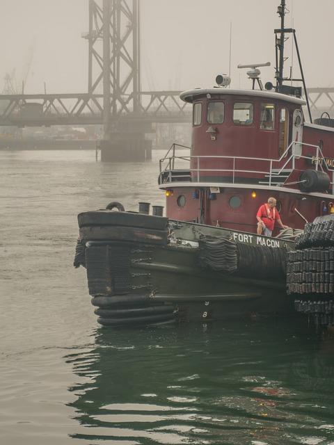 Portsmouth Nh, Tugboat, Tug, Boat, Nautical