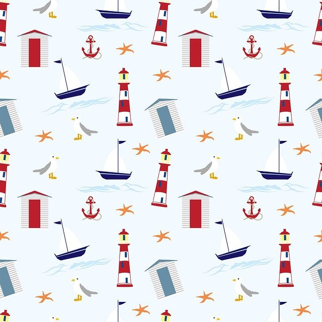 Nautical, Wallpaper, Background, Pattern, Seamless