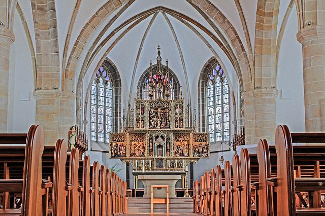 Nave, Meppen, Altar, Church, High Altar, Neo Gothic