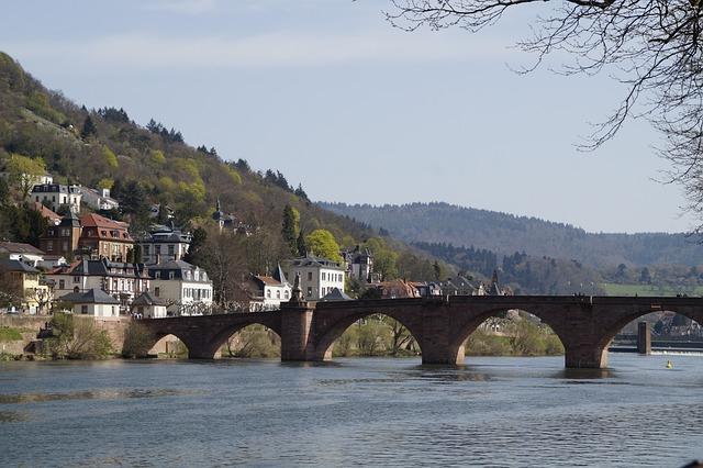 Waters, Bridge, Architecture, Travel, River, Neckar