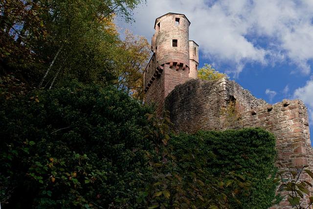 Neckarsteinach, Castle, Neckar, Ruin, Burgruine