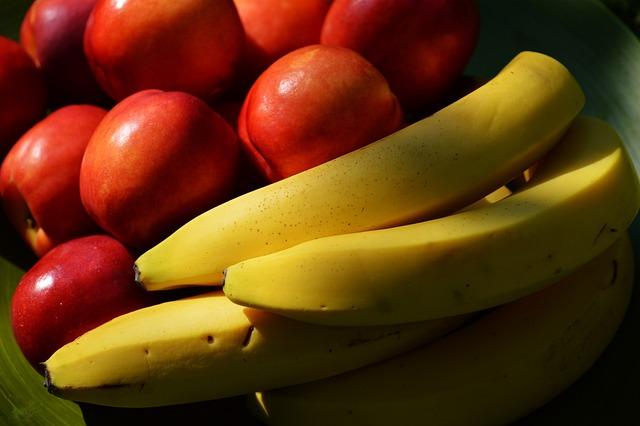 Bananas, Nectarines, Fruit, Fruits, Food, Juicy