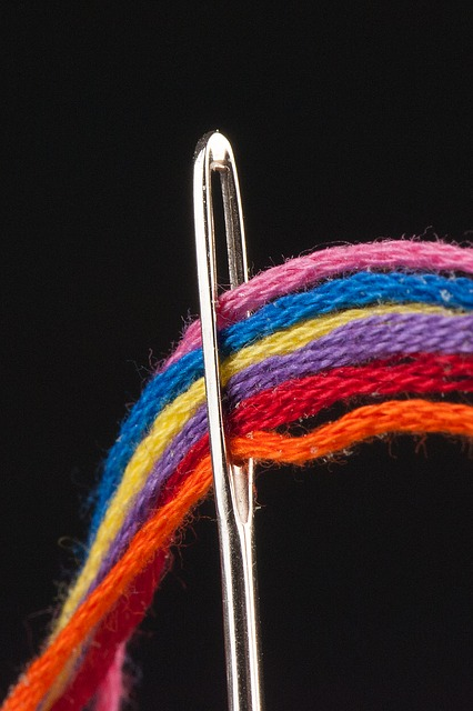 Needle, Thread, Sewing, Macro, Colorful