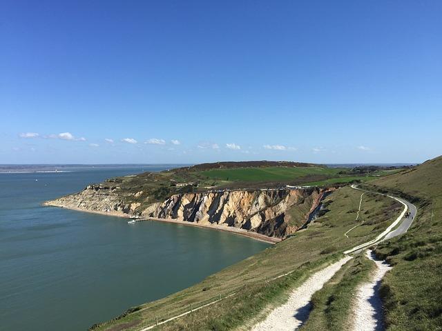 Isle Of Wight, Needles Coastline, Water, Sea, Wight