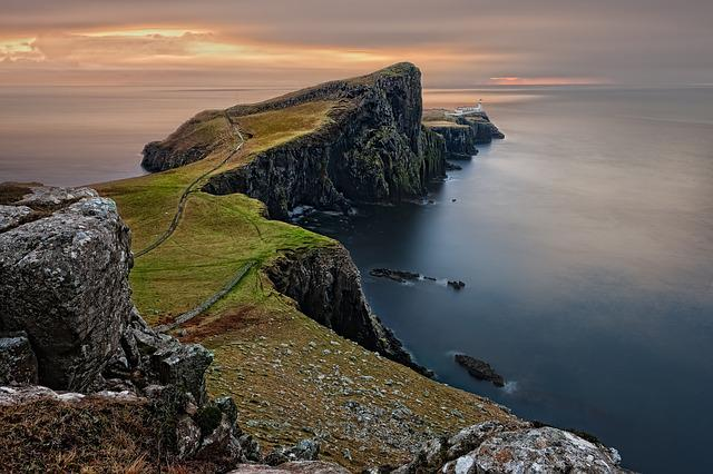 Neist Point, Sea, Coast, Horizon, Coastline, Ocean