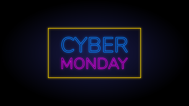 Cyber, Monday, Neon, Ecommerce, Shop, Offer, Discount