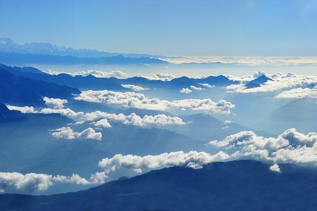 Nepal, Himalayan, Travel, Airphoto