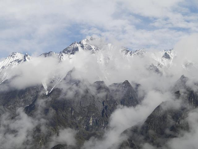 Mountains, Himalayas, Nepal, Nature, Clouds