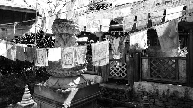 Nepal, Temple, Flags, Worship, Buddhism, Monkey