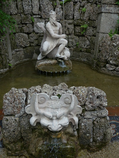 Neptune, Neptune's Grotto, Grotto, Water Feature