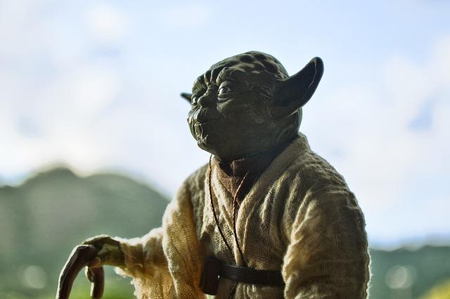 Yoda, Starwars, Actionfigure, Landscape, Nerd