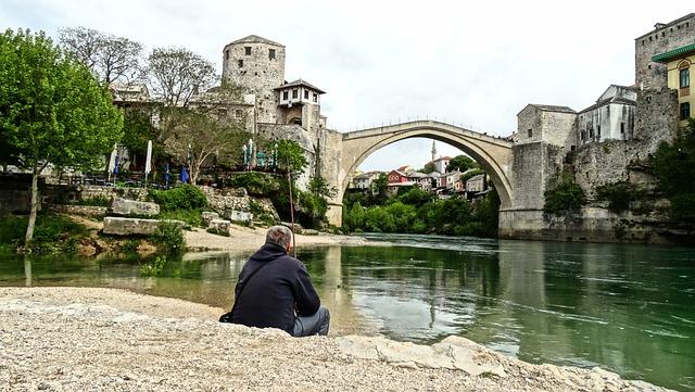 Old Bridge, Mostar, River, Neretva, Herzegovina