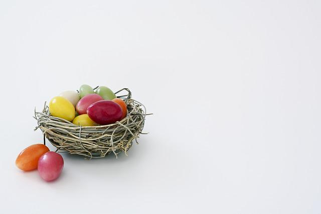 Easter Nest, Nest, Sugar Eggs, Colorful, Easter
