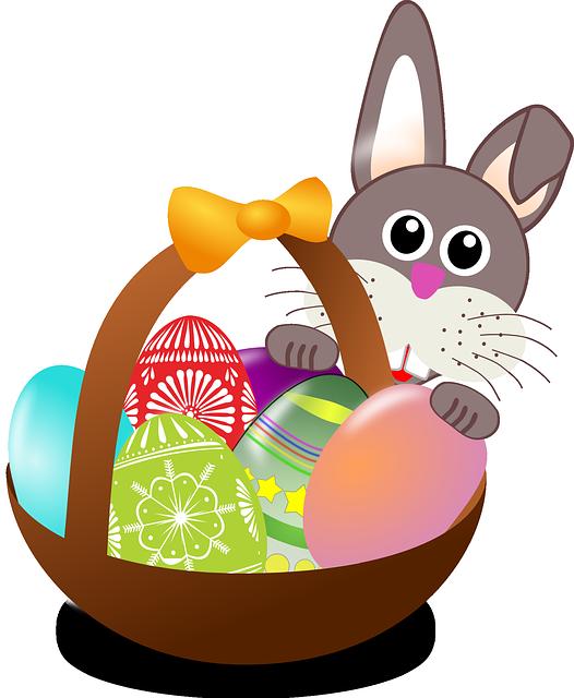 Easter, Bunny, Eggs, Nest, Basket, Holidays, Decoration