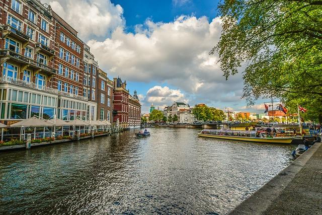 Amsterdam, Canal, Restaurant, Netherlands, Boat
