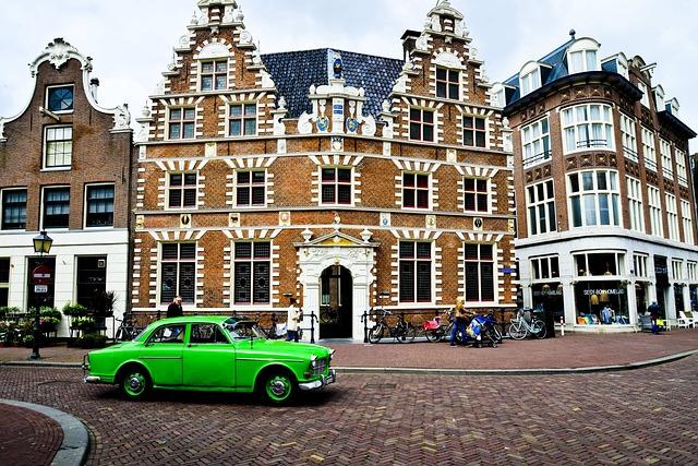 Netherlands, Holland, Volvo, Green, Oldtimer