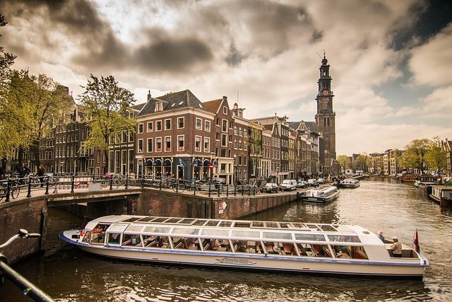 Amsterdam, Channel, Netherlands, Boat, Waterway, Dutch