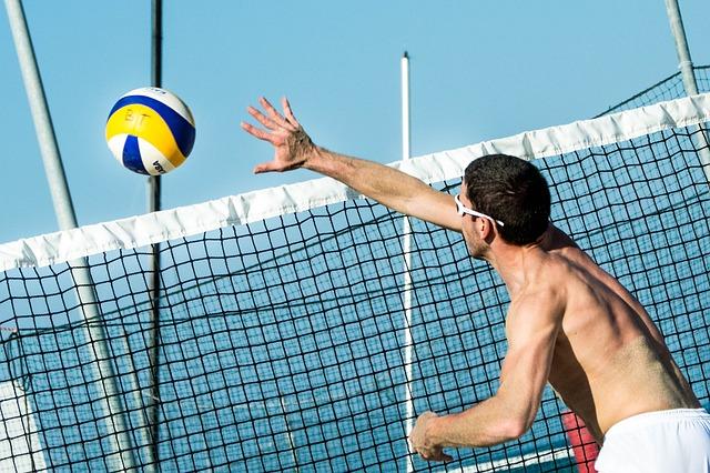 Beach Volleyball, Ball, Volleyball, Beach, Network, Man