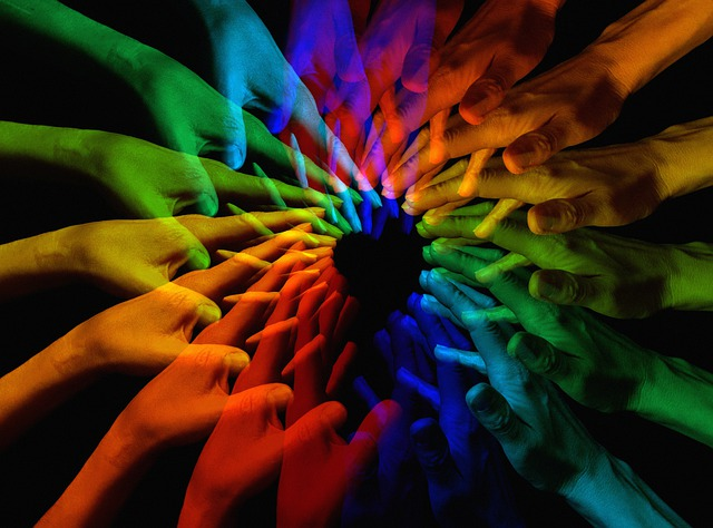 Hands, Network, Hand, Rainbow, Color, Community