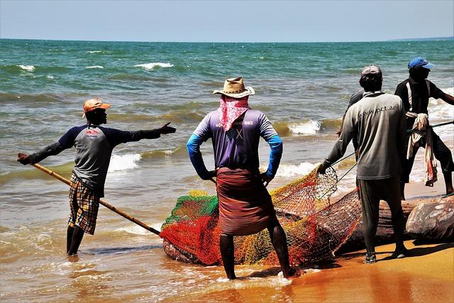 The Fishermen, Network, Rope, Cap, Indian Ocean, Work