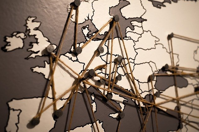 World, Europe, Map, Connections, Network, Continent