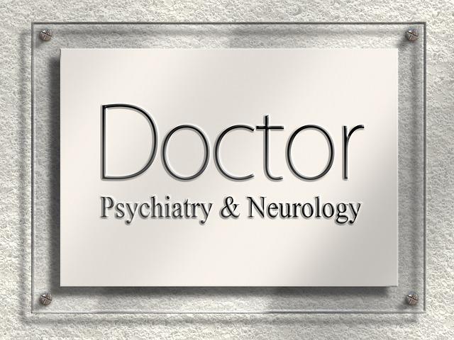 Doctor, Door Sign, Nameplate, Psychiatry, Neurology
