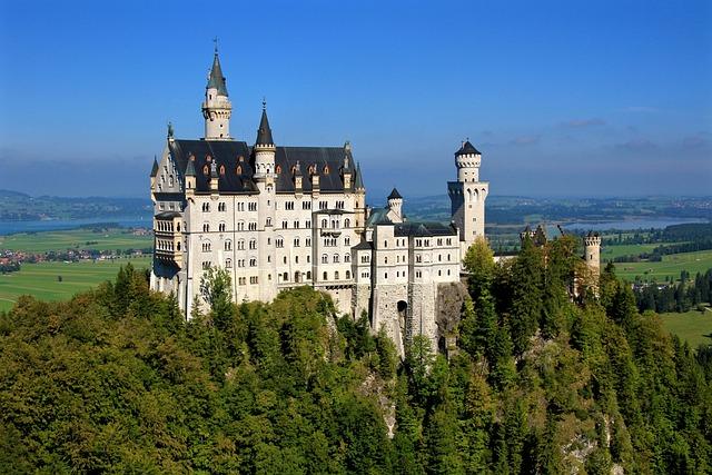 Castle, Towers, Architecture, Neuschwanstein Castle