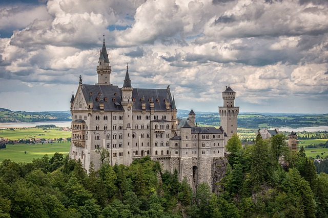 Neuschwanstein Castle, Neuschwanstein, Germany, Palace