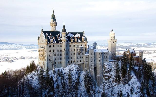 Neuschwanstein, Castle, Bavaria, Fortress, Schloss