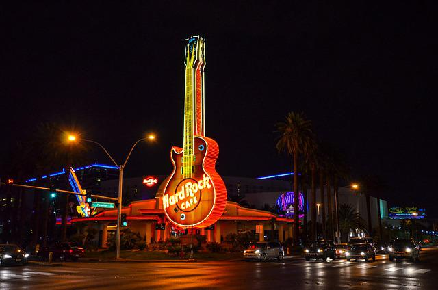 Las Vegas, Nevada, Casino, Hard Rock Cafe, South West