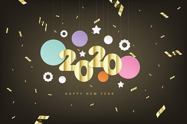 Happy New Year, Year, New, 2020
